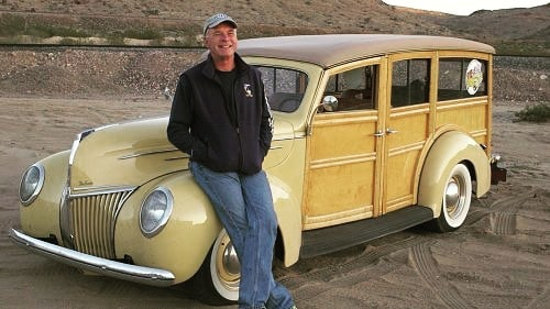 Tom Cotter with His '49 Woodie